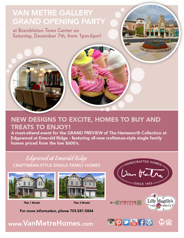 VAN METRE GALLERY GRAND OPENING PARTY at Brambleton Town Center on Saturday, December 7th, from 1pm-6pm!